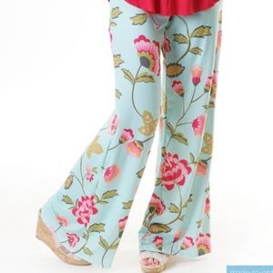 Lolly Wolly Doodle Palazzo pants flower Vine print